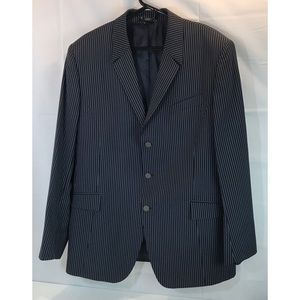 Thierry Mugler Navy White Pinstripe 2 Piece Suit